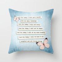 Reiki Principles No.1 Throw Pillow