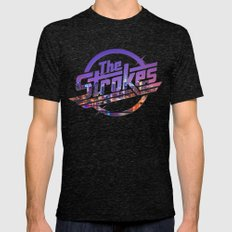 The Strokes Logo New Yor… Mens Fitted Tee Tri-Black SMALL