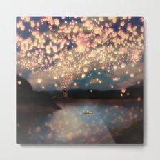 Love Wish Lanterns Metal Print