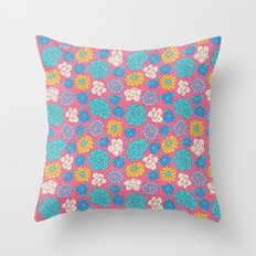 RocoFlowers (strawberry) Throw Pillow