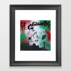 Mexican flag themed Sergio Romo SF Giants Gigantes Aerosol Stencil Art Painting Framed Art Print
