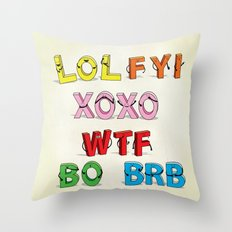 Some Internet Abreviations Throw Pillow