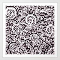 Black And White Maze Art Print