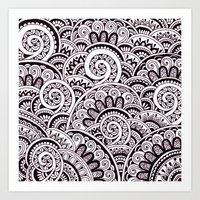 Black And White Maze Art Print