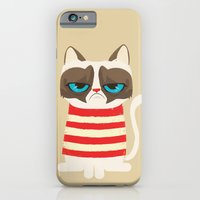 iPhone & iPod Case featuring Grumpy meme cat  by Catalin Anastase
