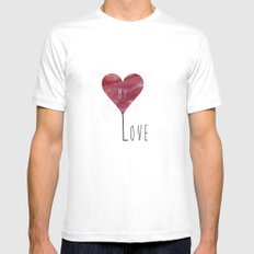 MY LOVE SMALL Mens Fitted Tee White