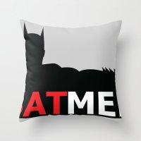 Bat Men Throw Pillow