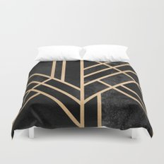 Art Deco Black Duvet Cover