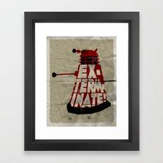 Doctor Who - Dalek EXTERMINATE! Framed Art Print