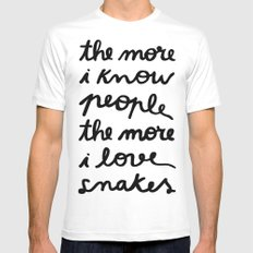 ALL MY FRIENDS ARE SNAKES SMALL Mens Fitted Tee White