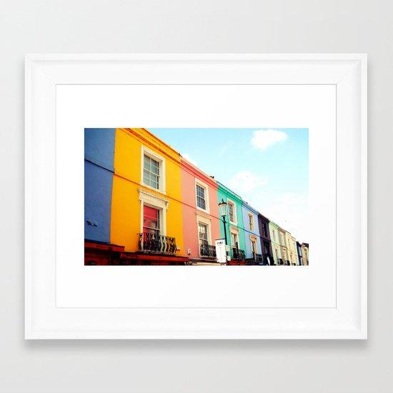 Colourful Houses of Portobello Market Framed Art Print