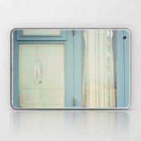 Beach Hut window - blue Laptop & iPad Skin