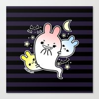 Naughty Halloween Bunny … Canvas Print