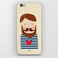 Bearded Sailor Lover iPhone & iPod Skin