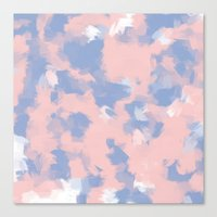 BLOSSOMS - ROSE QUARTZ / SERENITY Canvas Print