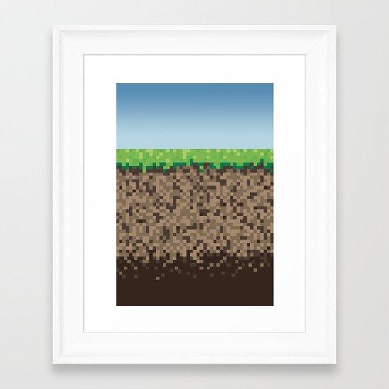 Minecraft Block Framed Art Print