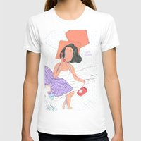 Vuelve Por Favor Womens Fitted Tee White SMALL