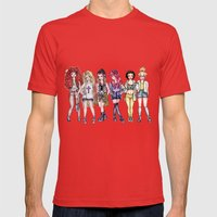 Hipster Princesses Mens Fitted Tee Red SMALL