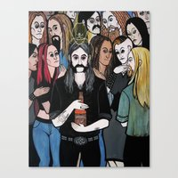 Lemmy Kilmister's Ascent to the Rainbow Bar & Grill Canvas Print
