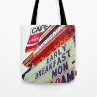 Diner Angle Tote Bag