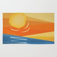 Beach Sunset Rug