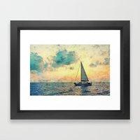 Sailing Along Framed Art Print