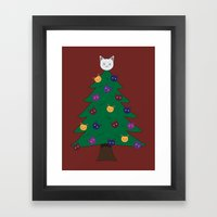 Merry Meow Framed Art Print