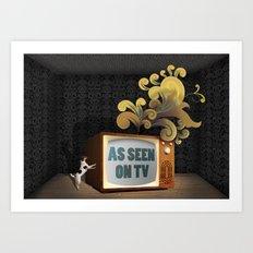 As Seen on TV Art Print