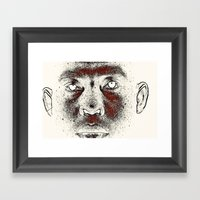 TWILIGHT FACE Framed Art Print