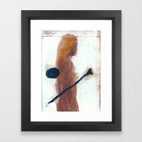woman and bone Framed Art Print