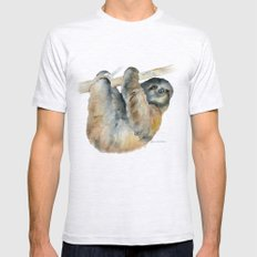 Sloth Mens Fitted Tee Ash Grey SMALL