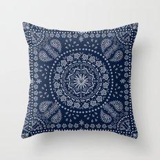 Zendana Navy Bandana Throw Pillow