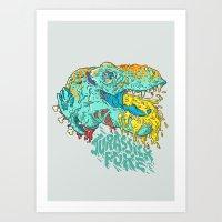 Jurassick Puke Art Print
