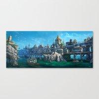 -City on the Big Bridge- Canvas Print