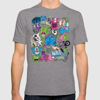 Gross Mens Fitted Tee Tri-Grey SMALL