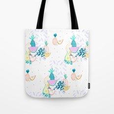 Fruiti tutti. Fruit, illustration, pattern, print, pineapple,  Tote Bag