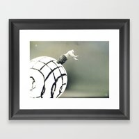Stuck In A Hard Place |P… Framed Art Print