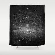 Shower Curtain featuring STARGAZING IS LIKE TIME … by Amanda Mocci