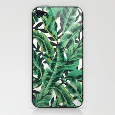Tropical Glam Banana Leaf Print iPhone & iPod Skin