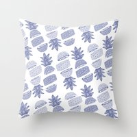 Pineapples (Light/Sliced) Throw Pillow