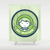 Cute John Watson - Green Shower Curtain