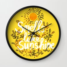 Smells Like Sunshine Wall Clock