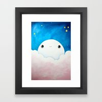 moon man Framed Art Print