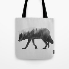 The Wolf (black & White … Tote Bag