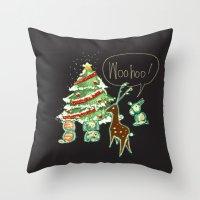Woohoo Christmas! Throw Pillow