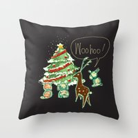Woohoo Christmas! Throw Pillow