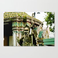 The Stone Guardians Of W… Canvas Print