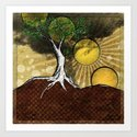 Sunrise Tree Art Print