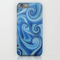 Parting Waves abstract ocean sea swirls painting iPhone 6 Slim Case
