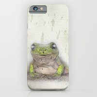 iPhone & iPod Case featuring Jeremiah was a bullfrog by Wendy Townrow